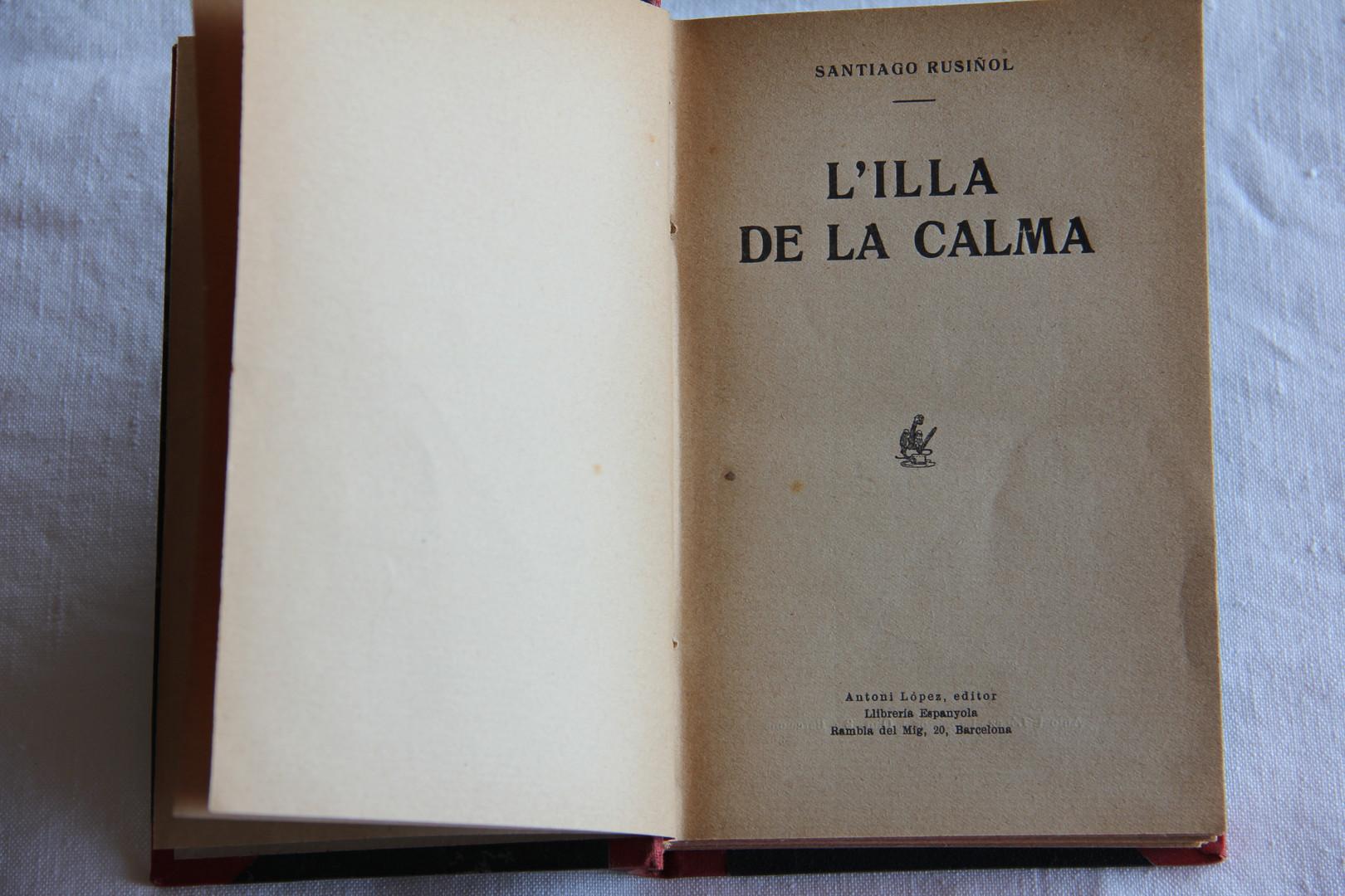 """Copy of """"L'illa de la calma"""", by Santiago Rusiñol (1905)."""