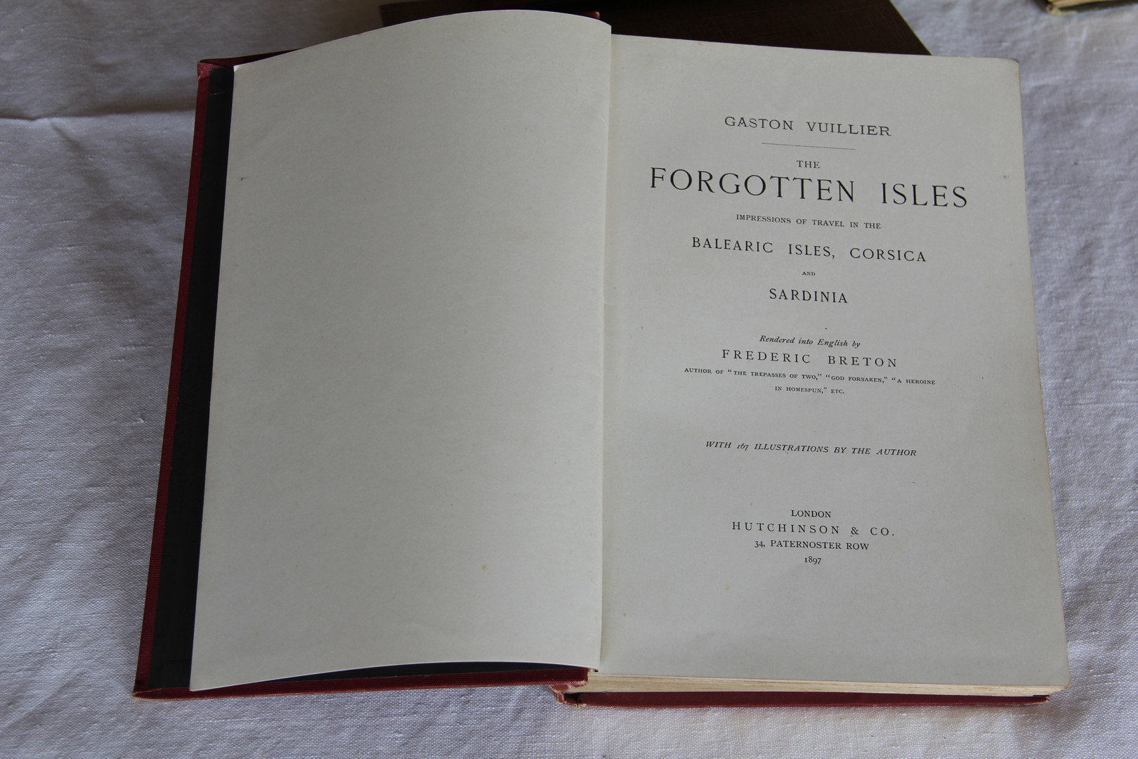 """English edition of """"The Forgotten Isles"""", by Gaston Vuillier (1897)."""
