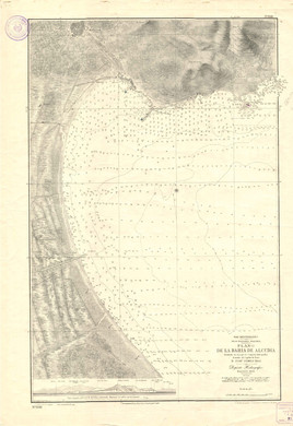 Nautical chart by the 1893 hydrographic commission for the bay of Alcúdia (Jaume Ferrando Collection).