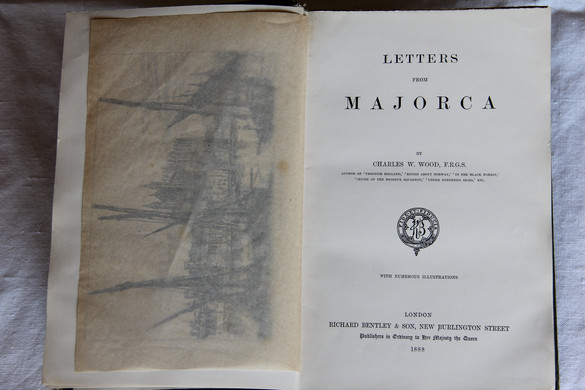 """English edition of """"Letters from Majorca"""", by Charles W Wood (1888)."""