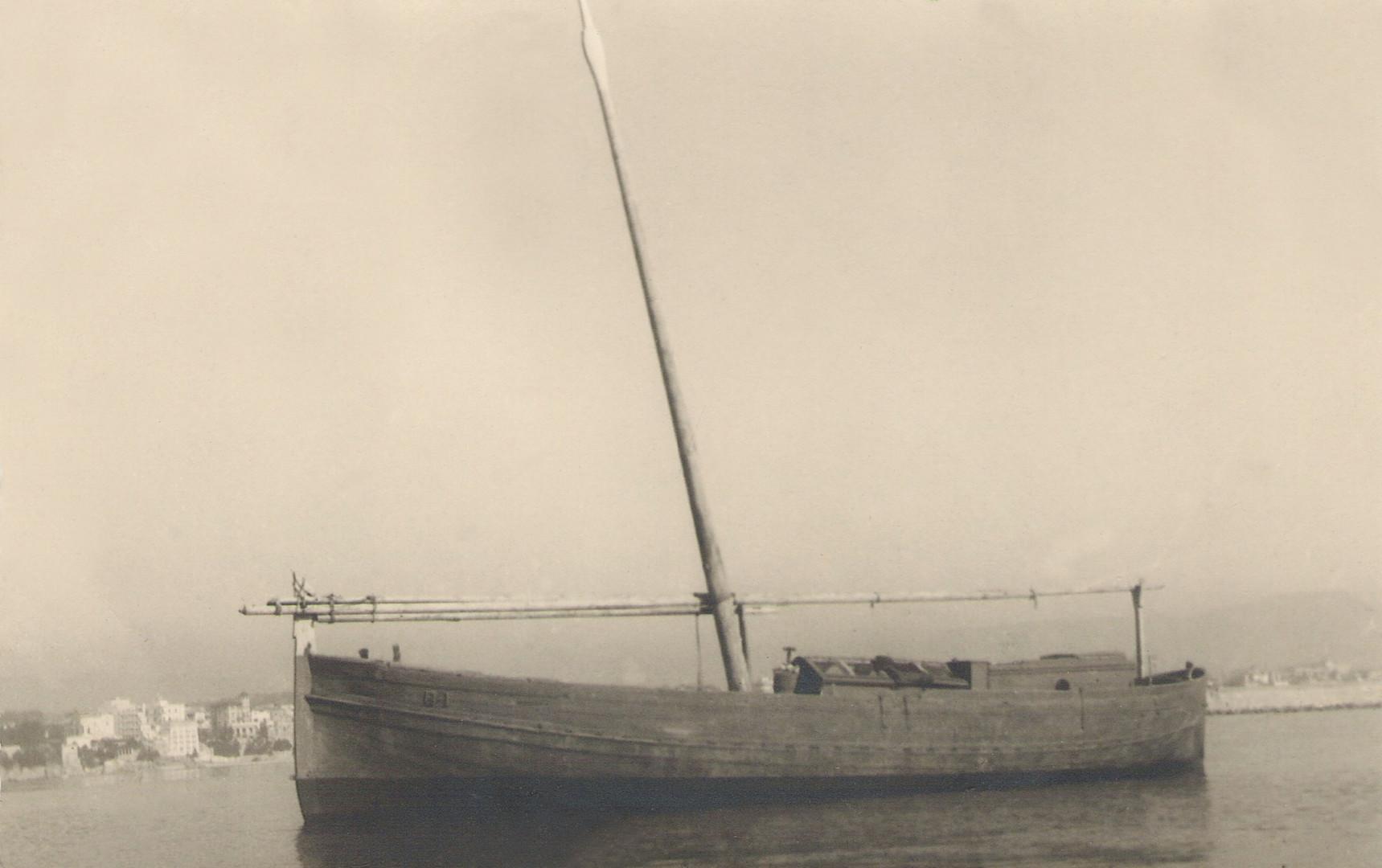 Llaüt escampavies, 1915. Gentilesa de Jesús M. Medel Soteras.
