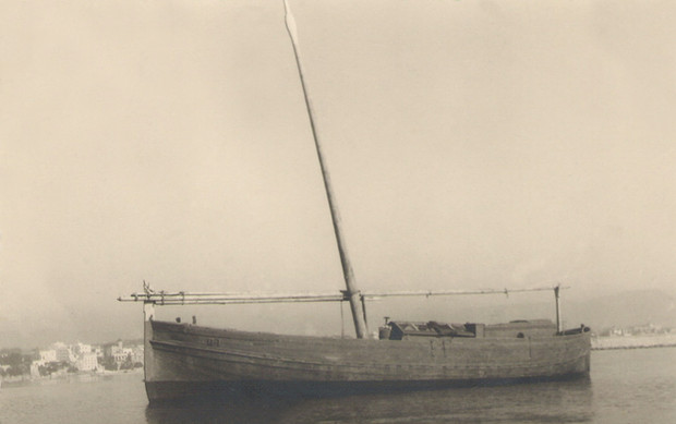 Coastguard llaüt, 1915. Courtesy of Jesús M. Medel Soteras.
