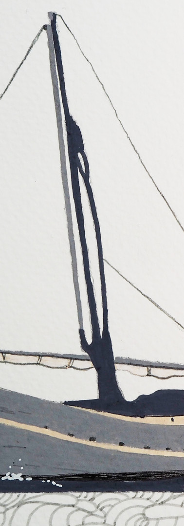 "Coastguard cutter or ""llaüt""."
