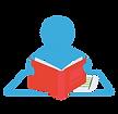 סימול של ילד מחזיק ספר. מייצג את ההרגל ש