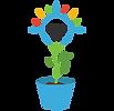 סימול של עציץ ובתוכו צומח פרח דמוי נורת ליבון. מייצג את טיפוח היצירתיות.