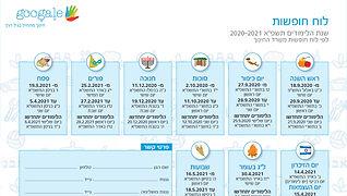 גוגלה - לוח חופשות ועלון מידע להורים - ת