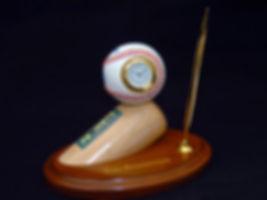Baseball Clock on Baseball Bat Barrel wi