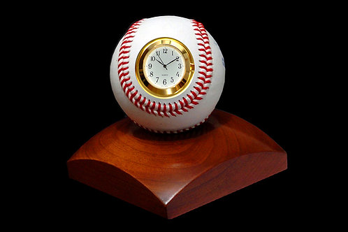 Baseball Sport Clock with Cherry Base Edition