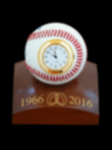 Baseball Clock with Hand Turned Personal
