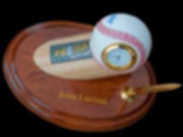 Baseball Clock Executive Desk Set Person