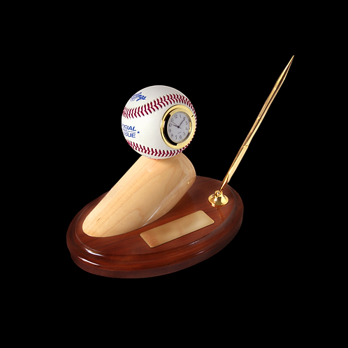 Executive Edition Baseball Sport Desk Set with Bat Barrel