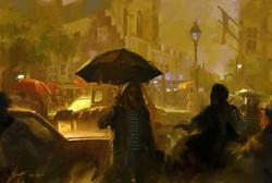 Raining night in Breda