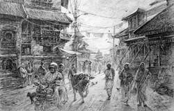 Crowd in Kathmandu