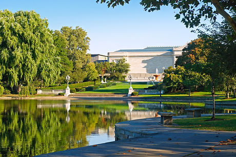 The Cleveland Museum of Art and trees re
