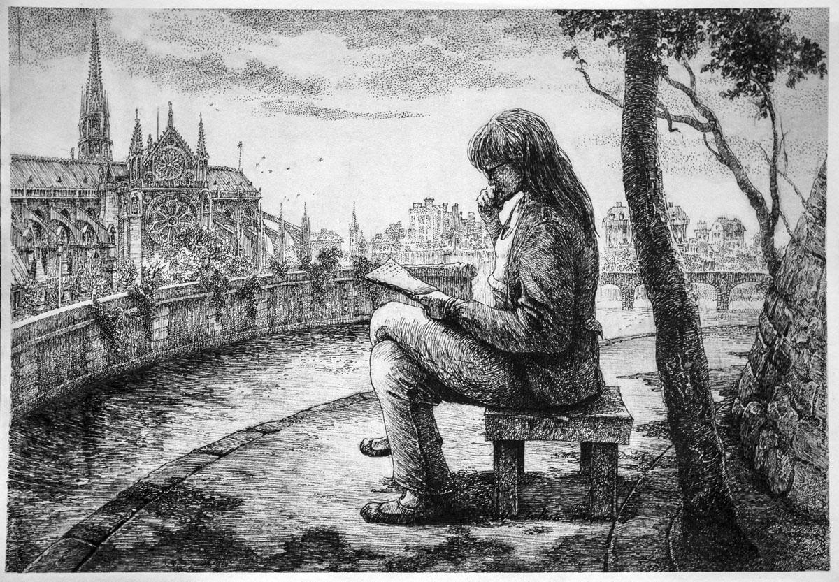 Reader on the Seine
