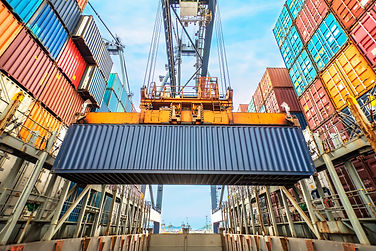 Container loading in a Cargo freight shi
