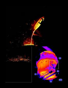 kazan aşınma kontrol termal kamera