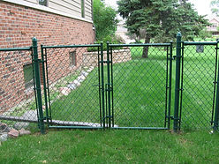 Green Vinyl Chain Link Fence Gates.jpg