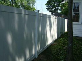 Privacy PVC Fence Eight Foot Wide Panels