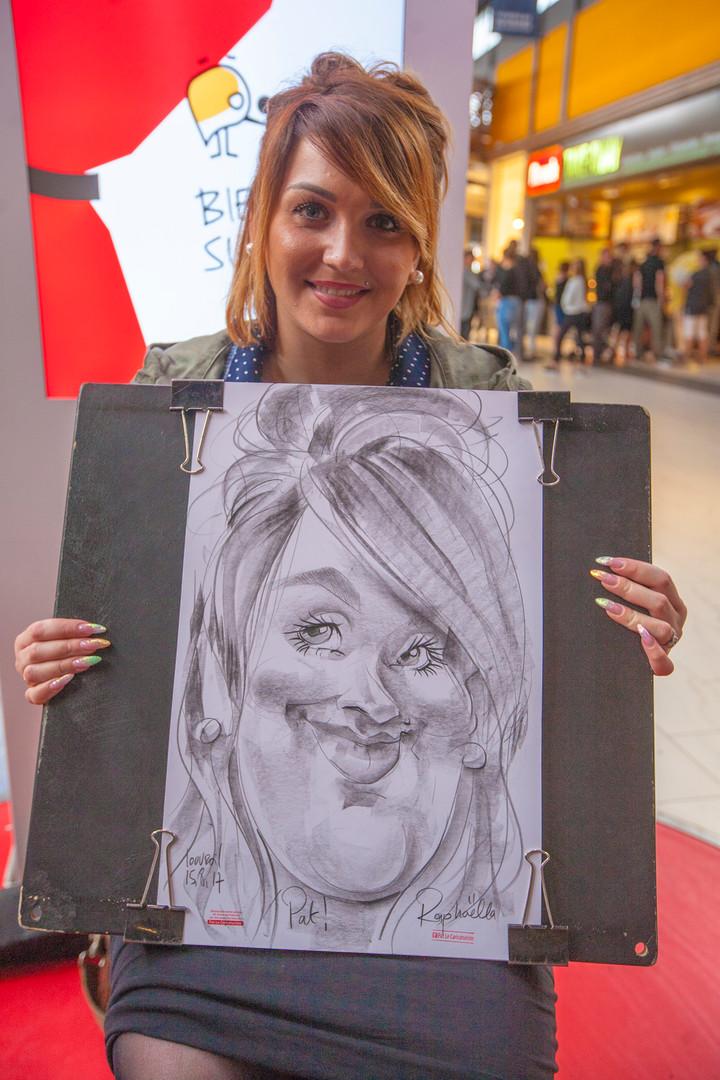 Super Cacicature Papier - Pat le Caricaturiste Lille - 5 min. par personne