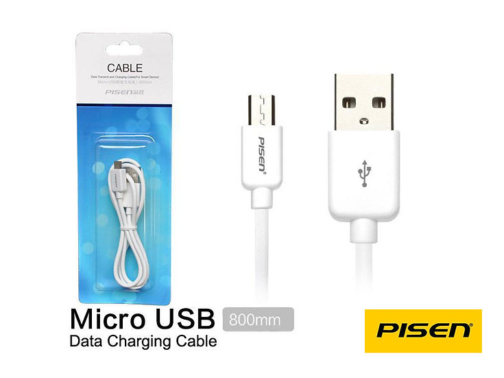 Pisen Micro USB Data/Charging 800mm Cable