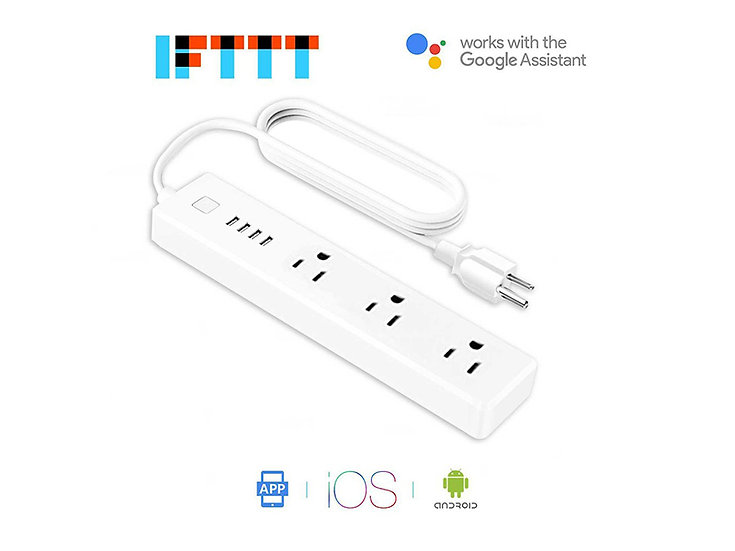 Meross MSS425E 3-Outlet / 4-USB Port Smart WiFi Surge Protector Power Strip