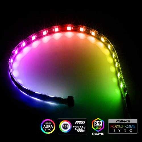 Addressable RGB LED Light Strip with 21 LED 5V 3-Pin