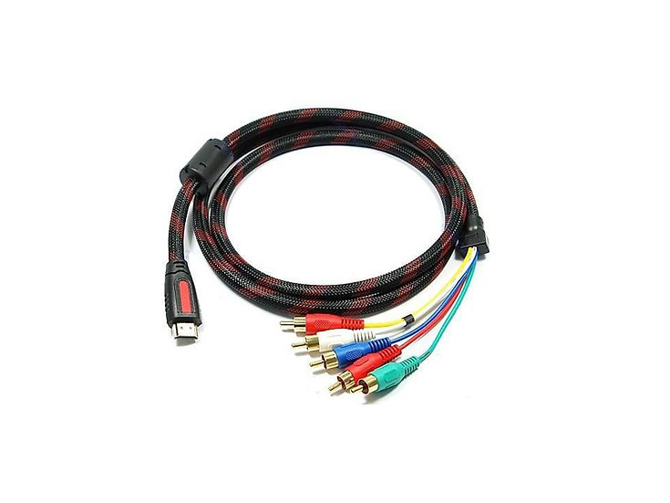 Speedex 6Ft HDMI to 5 RCA Cable