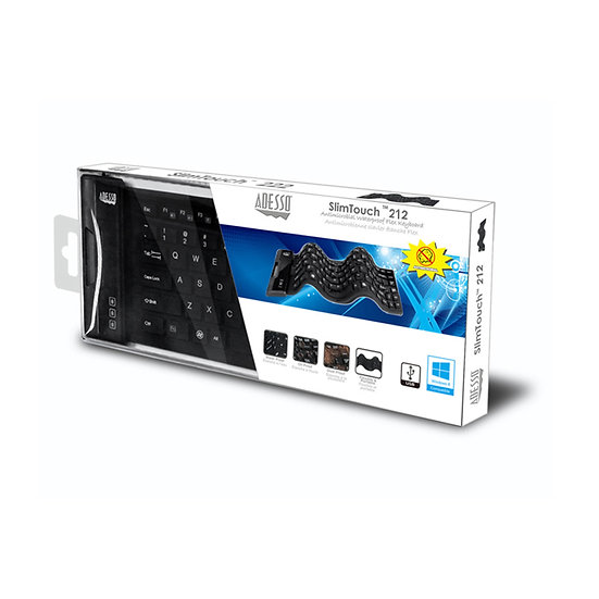 ADESSO Antimicrobial Waterproof Flex Keyboard (Mini Size)