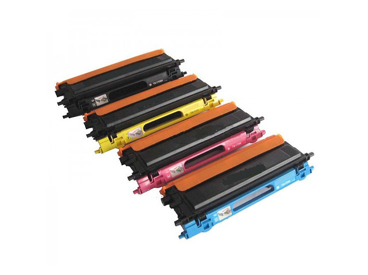 Compatible Color Toner for Brother TN210, Yield: 2,200