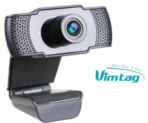 Vimtag HD Webcam 1080P with Built-in Microphone USB Plug & Play