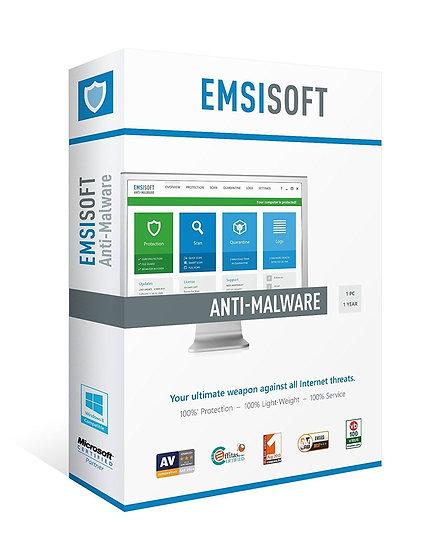 Emsisoft Anti-Malware 3 PC/1 Year Retail Box