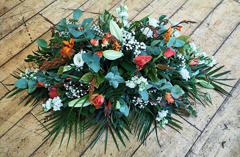 Double Ended Casket Spray - Mixed Flower