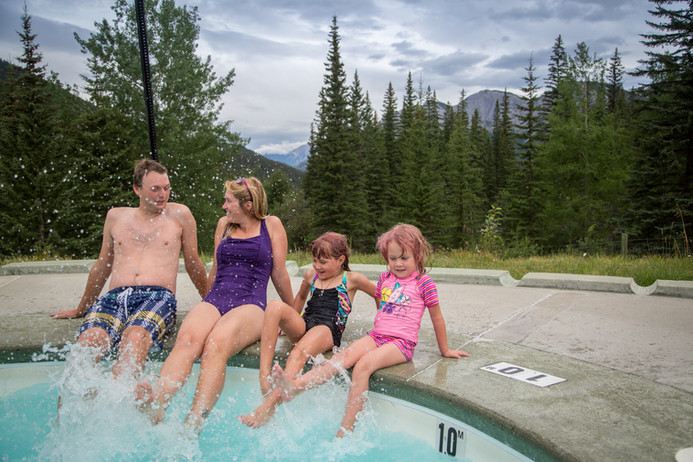 CRHS-Family Splashes in Pool-Parks Canad