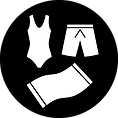 icon of swimsuits and towel