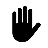 Icon of a hand in a stop sign