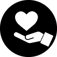 icon of hand and heart