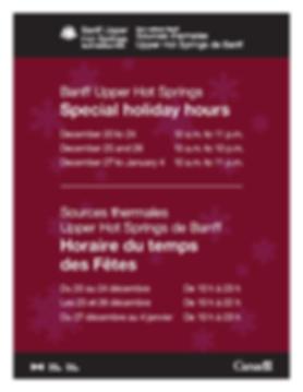 CRHS holidayhrs poster 8.5x11 2019 Banff