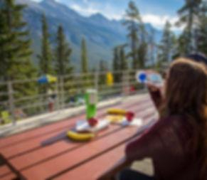 Picnicking at Banff Upper Hot Springs
