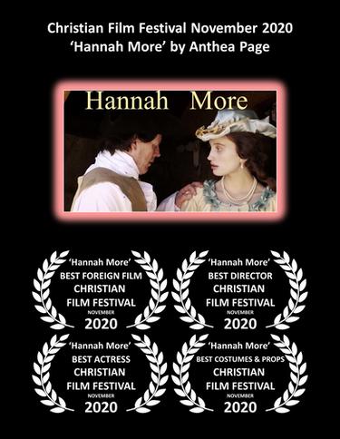Hannah More Award Poster Christian Film Festival 2020