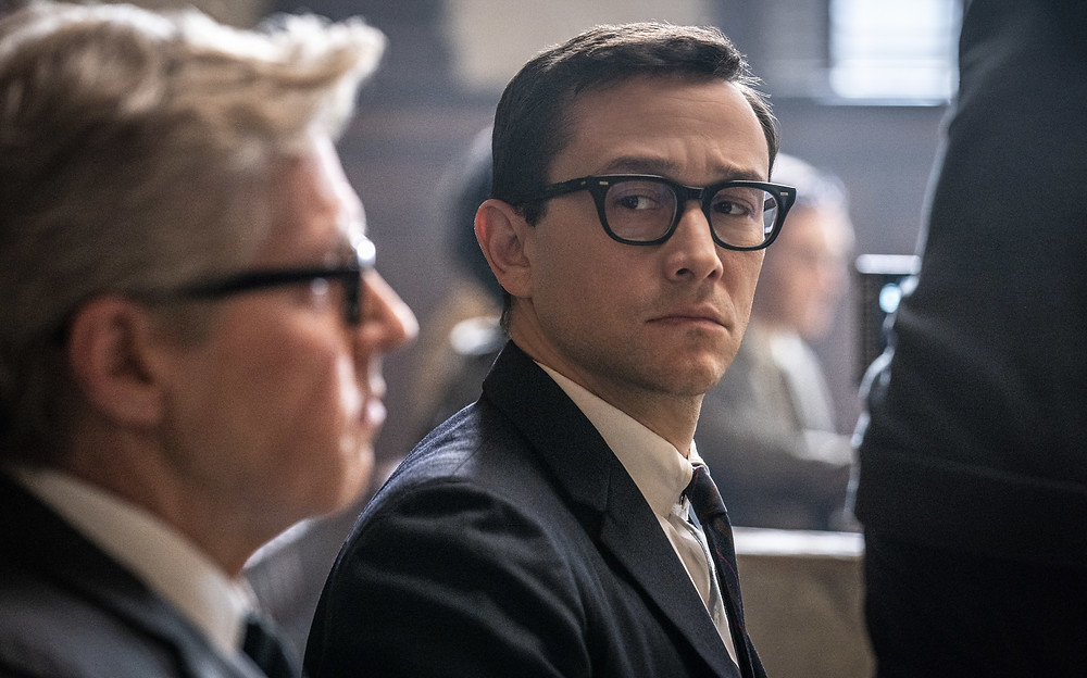 J. C. MacKenzie and Joseph Gordon-Levitt in Aaron Sorkin's The Trial of the Chicago 7