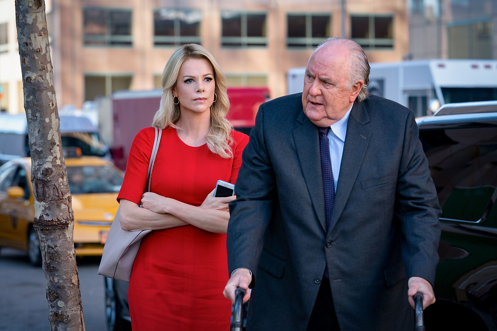Charlize Theron and John Lithgow in Jay Roach's Bombshell