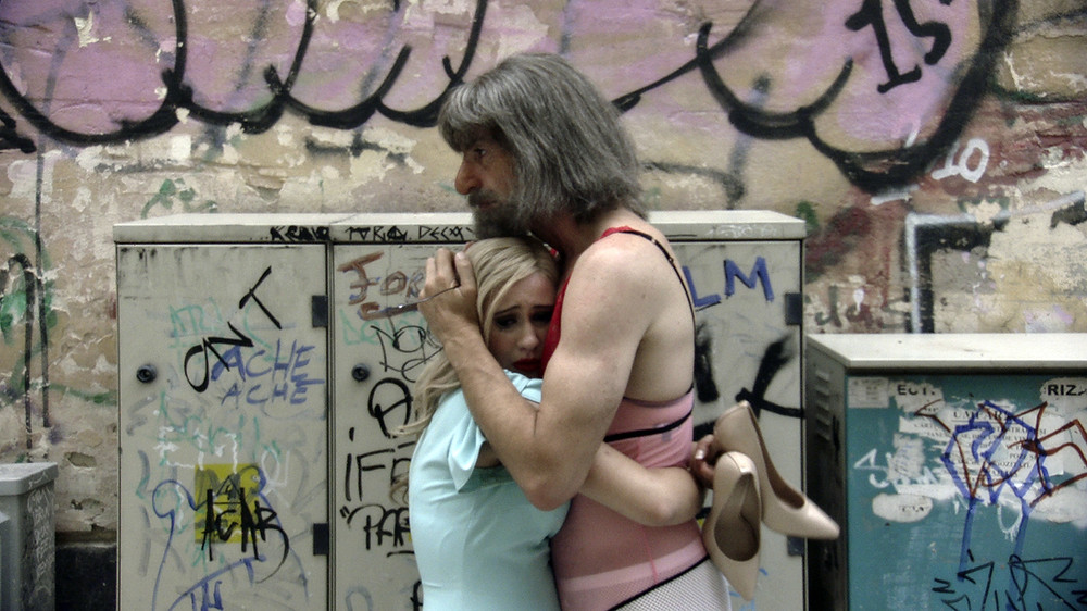 Maria Bakalova and Sacha Baron Cohen in Jason Woliner's Borat Subsequent Moviefilm