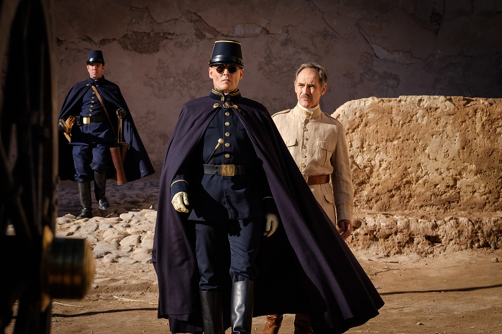 Johnny Depp and Mark Rylance in Ciro Guerra's Waiting for the Barbarians