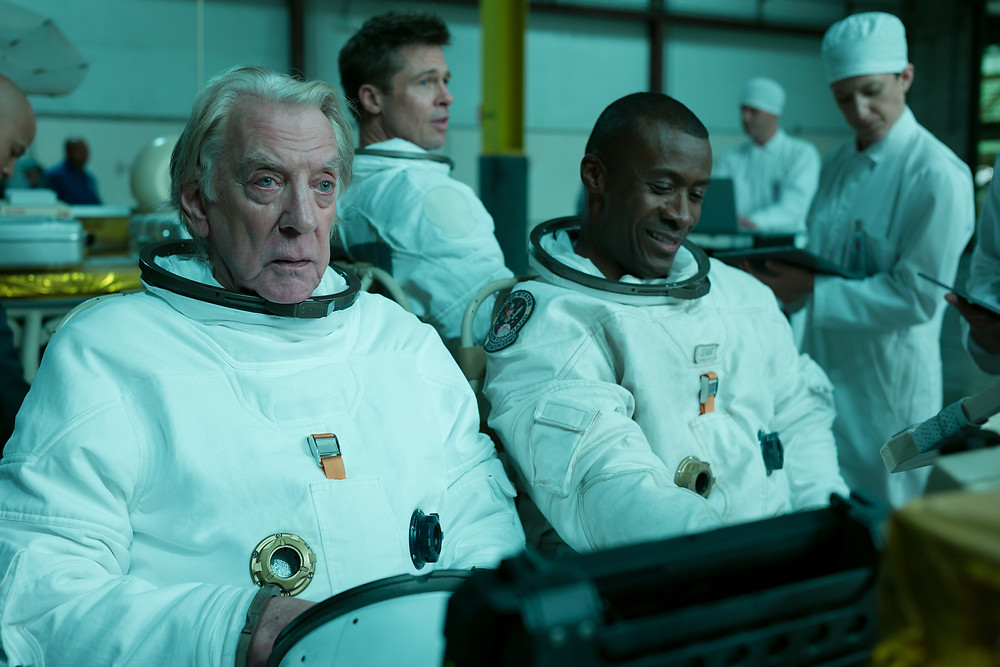 Donald Sutherland, Brad Pitt and Sean Blakemore in James Gray's Ad Astra