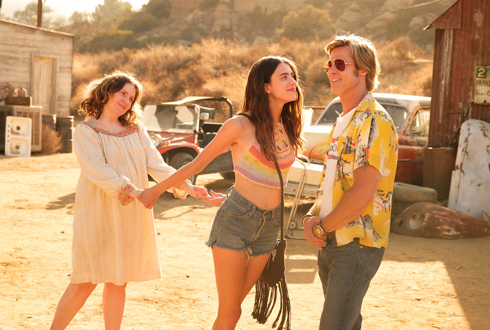 Lena Dunham, Margaret Qualley and Brad Pitt in Quentin Tarantino's Once Upon a Time... in Hollywood