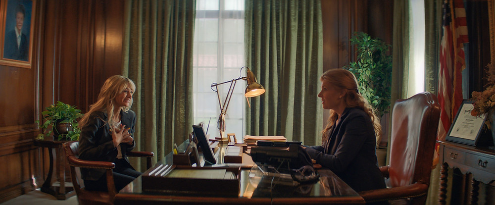 Carey Mulligan and Connie Britton in Emerald Fennell's Promising Young Woman
