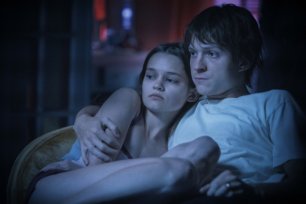 Ciara Bravo and Tom Holland in Anthony and Joe Russo's Cherry
