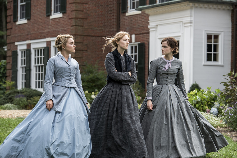 Florence Pugh, Saoirse Ronan and Emma Watson in Greta Gerwig's Little Women