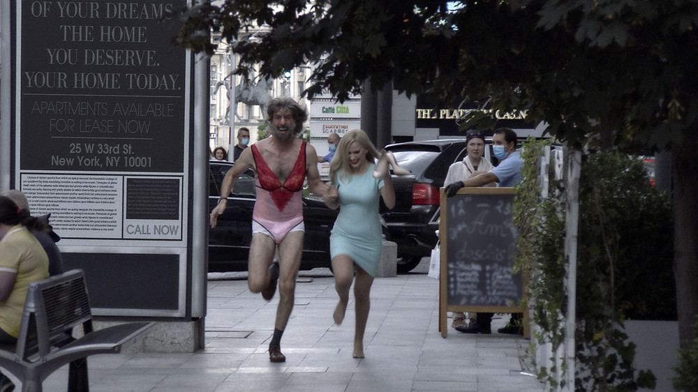 Sacha Baron Cohen and Maria Bakalova in Jason Woliner's Borat Subsequent Moviefilm